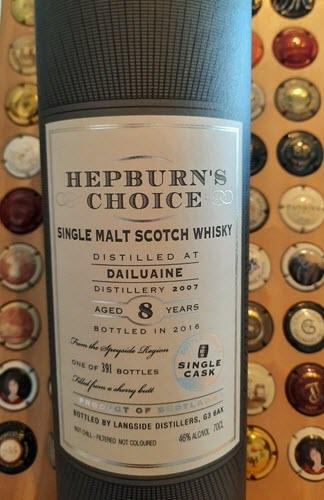 Hepburn's Choice Dailuaine 8y sherry butt - Collector's item